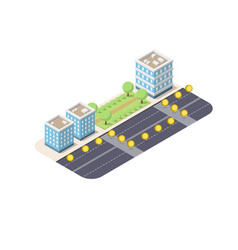 isometric city with coins vector image