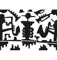 Jazz musicians -doodles vector