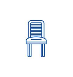 kitchen chair line icon concept kitchen chair vector image