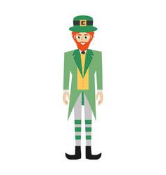 leprechaun character symbol patricks day vector image