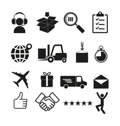 logistics icon simple vector image