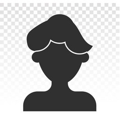 Male user account flat icon for apps and websites vector