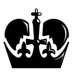 Monarch crown icon simple black style vector