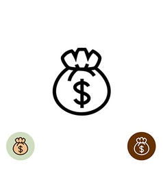 Money bag logo vector image