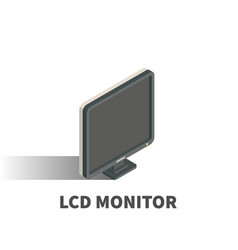 monitor icon symbol vector image
