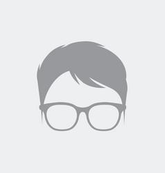 Nerd avatar face profile vector