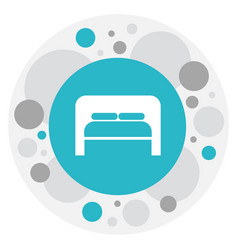 of travel symbol on bedroom vector image