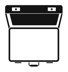 open suitcase icon simple style vector image