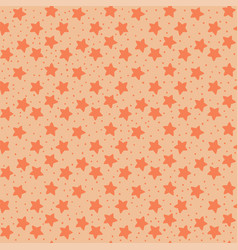 orange tones stars seamless pattern vector image