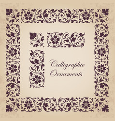 ornamental corners borders and frames vector image