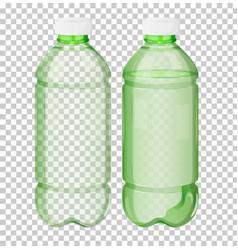 plastic green transparent bottle vector image