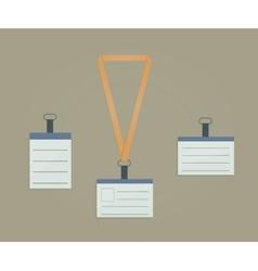 Retractor lanyard and badge vector