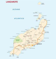 road map canary island lanzarote vector image