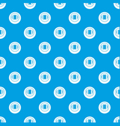 round stadium top view pattern seamless blue vector image vector image