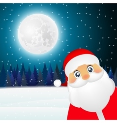 Santa Claus standing in the forest vector