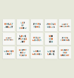 scandinavian holidays hand lettering quotes vector image