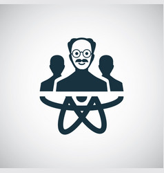 scientist group icon for web and ui on white vector image