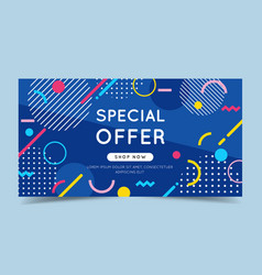 special offer colorful banner with trendy abstract vector image