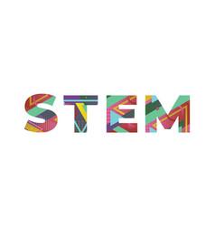 Stem concept retro colorful word art vector
