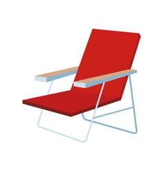 sunchair for beach vector image