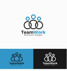 Team work logo template vector