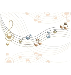 The musical vector image