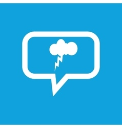 Thunderstorm message icon vector image