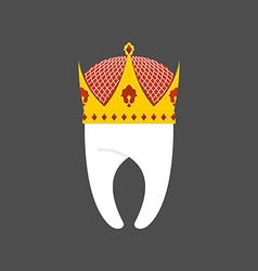 Tooth Crown White pure Royal logo for dent vector