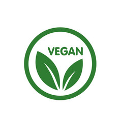 vegan bio ecology organic logo and icon label tag vector image