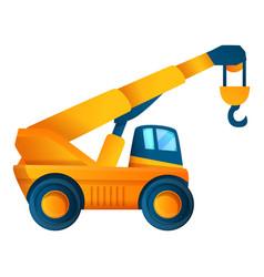 Vehicle crane icon cartoon style vector