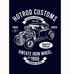 vintage hotrod vector image