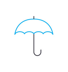 weather insurance thin line stroke icon vector image