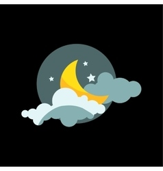 Weather night icon vector image