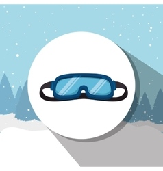 Winter sport wear and accesories vector