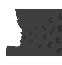 Breath of the butterfly vector image vector image