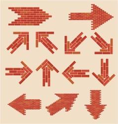 brick arrows vector image