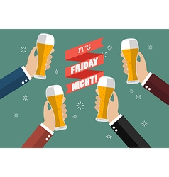 Friday Night Party celebration vector image vector image