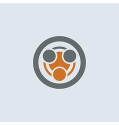 Gray-orange Infection Round Icon vector image