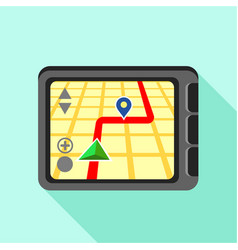 navigator icon flat style vector image