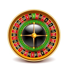 Roulette top view isolated on white vector image