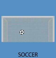 Soccer sport icon flat vector image vector image