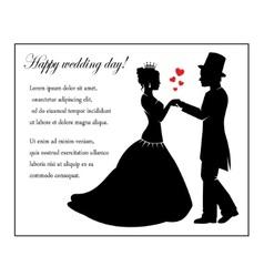 Wedding in retro style vector image vector image