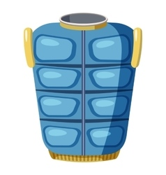 Blue warm vest icon cartoon style vector image