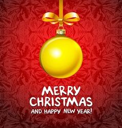 Golden realistic Christmas balls 2016 vector image vector image