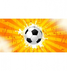 grunge soccer background vector image vector image