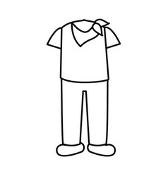 latin typical costume male vector image vector image