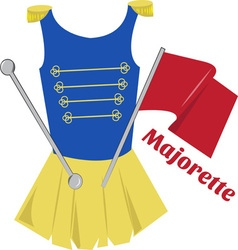 Majorette vector