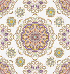 ornate flowers seamless texture vector image vector image