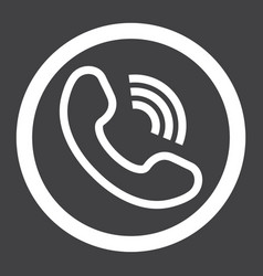 phone call line icon contact us and website vector image vector image