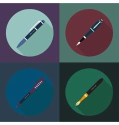 Set pen vector image